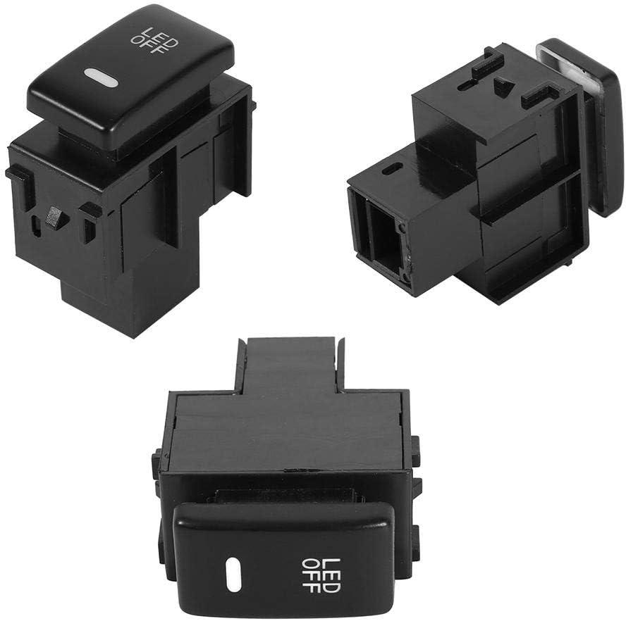 Terisass Fog Light Switch 12V ABS Car Vehicle LED Fog Light Switch Running Lamps for Nissan Cars Black
