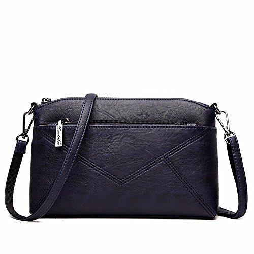 2018 la primavera de nuevo la bolsa, bolsa de mensajero, bolso de hombro,Gray Azul