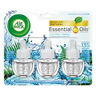 Air Wick, Plug in Scented Oil 3 Refills, Fresh Waters, Essential Oils, 2.01 oz