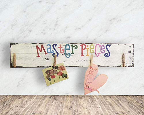 Cheap Display Kids Artwork – Christmas Gift Idea – Masterpieces Wood Sign, F11