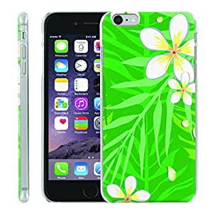 [ManiaGear] [SLIGHT] Thin Clip On Image Shell Cover Hard Case (White Tropical Flower) for Iphone 6 (4.7)