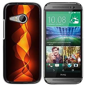 TopCaseStore / la caja del caucho duro de la cubierta de protección de la piel - Flames - HTC ONE MINI 2 / M8 MINI