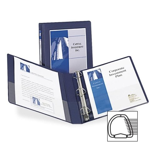 Wholesale CASE of 20 - Avery D-Ring Frame View Binders-D-Ring Frame View Binder,1'' Capacity,11''x8-1/2'',Navy Blue