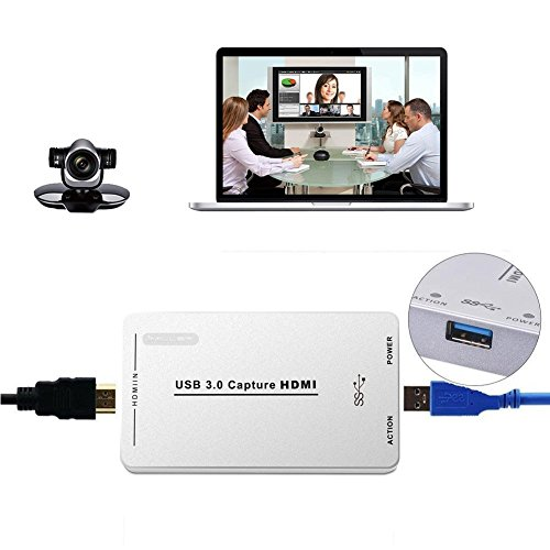 Imillet HDMI Video Capture with USB3.0/2.0 Dongle 1080P 60FPS Drive-Free Capture Card Box for Windows Linux  Os X System by Imillet (Image #3)