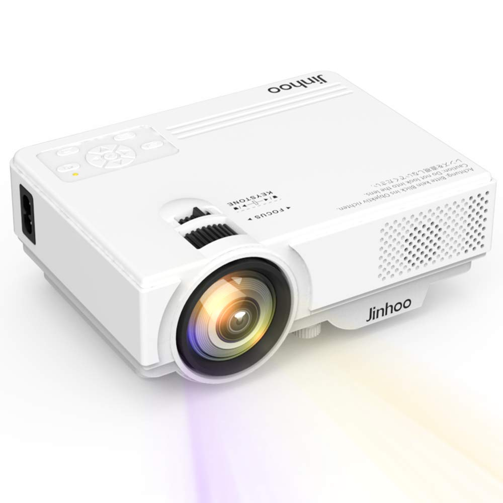 2019 Newest, Mini Projector 1080P Supported, 2600 Lumens HD Video Projector with 176'' Projector Size, 50000 Hours Lamp Lifetime, Compatible with HDMI, VGA, AV, USB for Home Theater, Movie and More