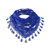 Clearance Sale!❄❄Women Clearance Lace Tassel Rose Floral Hollow Scarf Shawl Lady Wraps Scarves (Dark Blue)