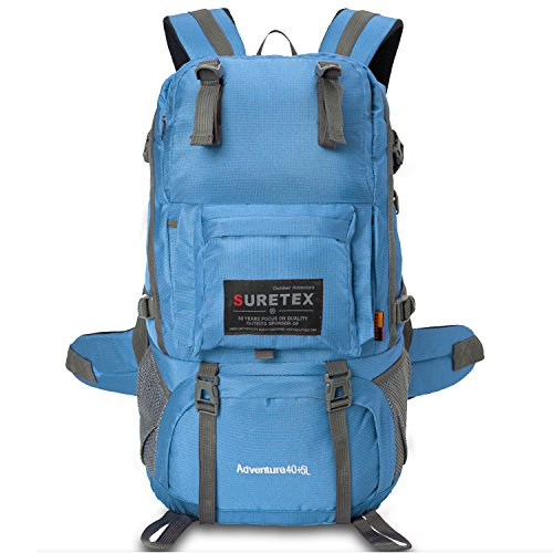 Waterproof School Bookbag Travel Hiking Backpack Dark Blue - 4