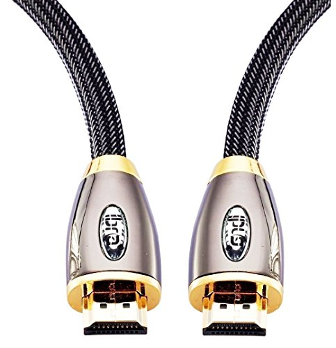 HDMI Cable 5ft - HDMI 2.0(4K@60Hz) Ready -18Gbps-28AWG Braided Cord -Gold Plated Connectors -Ethernet, Audio Return -Video 4K 2160p, HD 1080p,3D -Xbox PlayStation PS3 PS4 PC Apple TV -IBRA RED