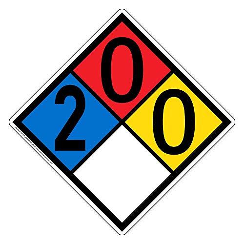 Nfpa Hazardous Materials - 2-0-0-0 NFPA 704 Hazard Diamond Safety Sign, 15x15 in. Aluminum for Hazmat by ComplianceSigns