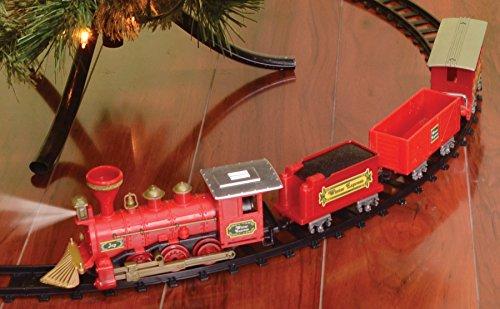 Train 4 Piece Set Tree Decor Engine Track Village Theme H...