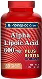 Alpha Lipoic Acid 600 mg plus Biotin Optimizer 180 Capsules