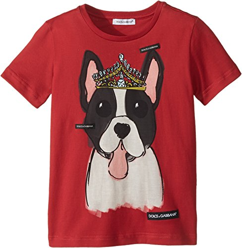 Dolce & Gabbana Kids Baby Girl's T-Shirt (Toddler/Little Kids) Red Print 4 by Dolce & Gabbana