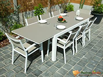 Table de salon de jardin avec extension Alton: Amazon.fr: Jardin