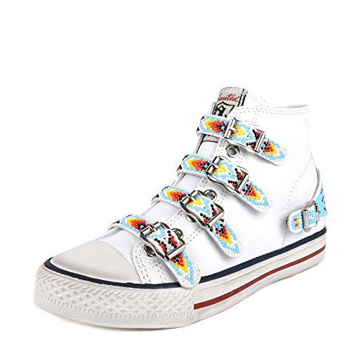 En Vaquero Cuir Blanc Chaussures Femme Ash qUSFzxw