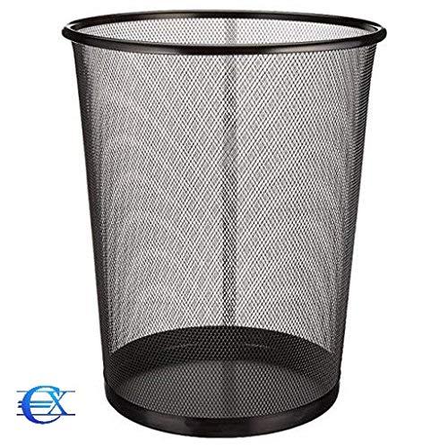 29,5 x 35 cm Papelera circular de rejilla met/álica EUROXANTY/® Papeleras de oficina Pack de 2 unidades Papelera negra 19 L