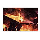 Trademark Fine Art Fireplace by Kurt Shaffer, 12x19-Inch Canvas Wall Art