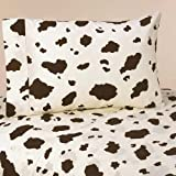 Sweet Jojo Designs 4-Piece Queen Sheet Set for Western Cowgirl Bedding Collection - Cow Print