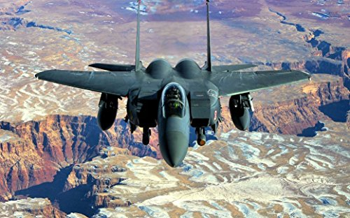 "NewBrightBase F-15 Eagle Fighter Fabric Cloth Rolled Wall Poster Print - Size: (40"" x 24"" / 21"" x 13"")"