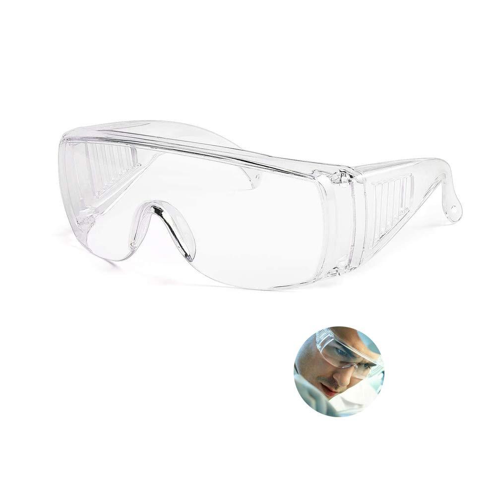 Gafas antiniebla, gafas transparentes y antiniebla transparentes de seguridad, lentes de protección ocular contra salpicaduras para hombres y mujeres, lentes antiarañazos (Transparente)