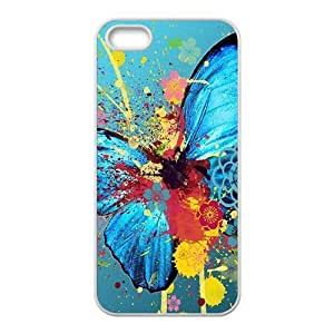 Graffiti colorful butterfly Phone Case for iPhone 5S(TPU) wangjiang maoyi