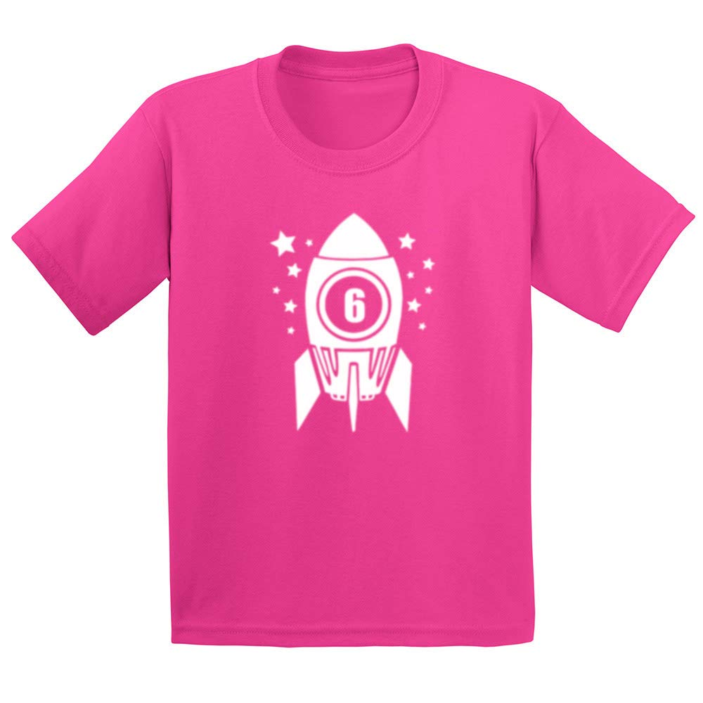 Loo Show Six Year Old 6th Birthday Space Rocket Cool Youth//Toddler Kids T-Shirt Boys Shirts