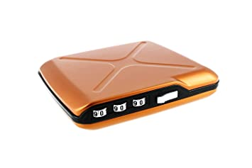 Ögon CW-Orange Caja Fuerte de Bolsillo Code Wallet Aluminio ...