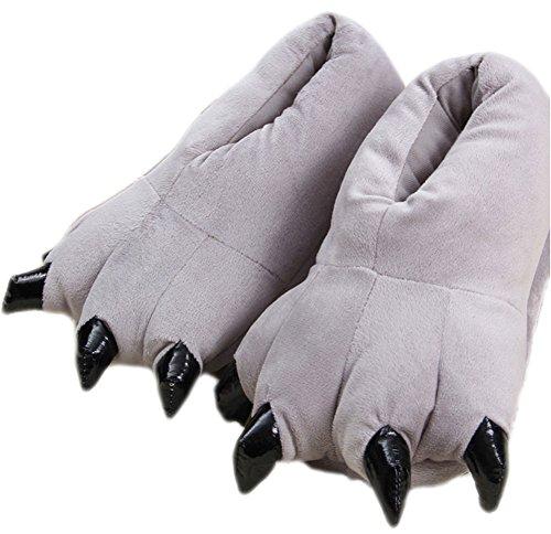 Cartoon Plush Claws Thicken Halloween Women's Gray Ma Costume Shoe Slippers King E8wBaa