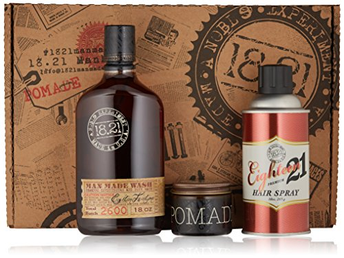 18.21 Man Made Gift Trio with Wash 18 oz, Pomade 2 oz & Hair