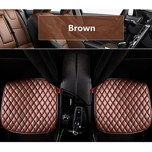 Durable Modeling YouDianGui 2PCS Driver And Passenger Seat Cover PU Leather Covers Universal Car