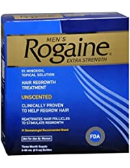Rogaine Mens Extra Strength Unscented 6 oz (Pack of 5)