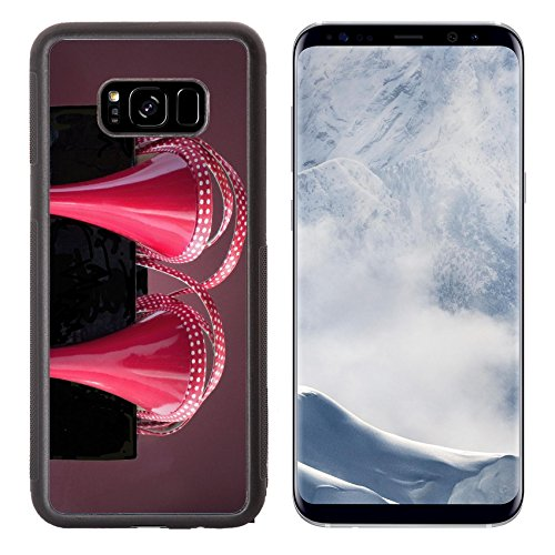 Luxlady Samsung Galaxy S8 Plus S8+ Aluminum Backplate Bumper Snap Case IMAGE ID 6012081 Red sandals in black box on red background