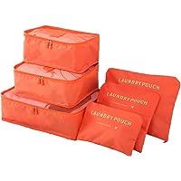 DUGUE 6 Set de Organizador de Equipaje, Impermeable Organizador de Maleta Bolsa para Ropa Sucia de Viaje, Material Nylon
