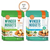 Wundernuggets Mix it up - 3 Bags Each of Original Rosemary and Minty Lentil Wundernuggets (Pack of 6 Bags)