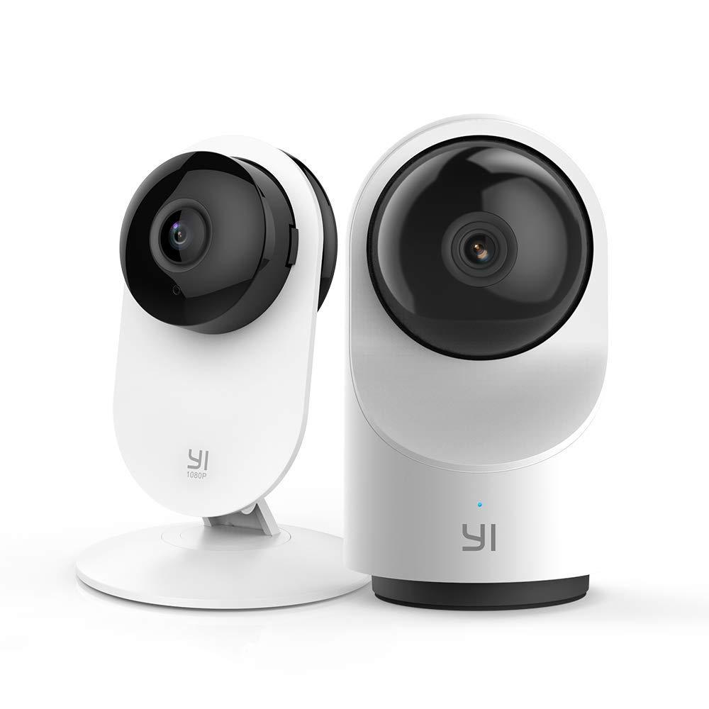 YI Indoor Security Camera Bundle Set, 1080p 2.4G Wi-Fi Smart Home Surveillance System with 24/7 Emergency Response, Motion Detection, App, Cloud Service - 1080P Home Camera and Smart Dome Camera X