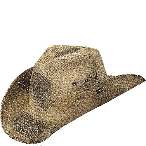 Peter Grimm Natural Straw Maverick Drifter Cowboy Hat