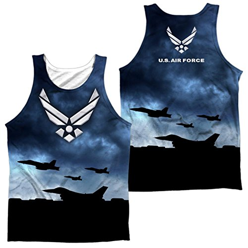 Tank Top: Air Force- Take Off (Front/Back) Size ()
