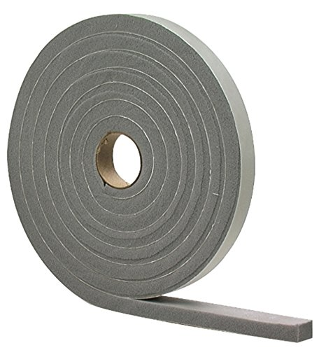 M-D Building Products 2311 High Density Foam Tape, 1/2-by-3/4-Inch by 10 feet, Gray, Grey