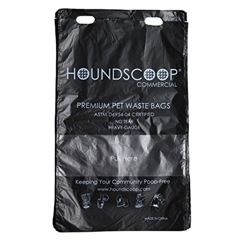 HOUNDSCOOP Case of 3200 header bags (32 packs of 100 bags with Pull-Strap) by HOUNDSCOOP