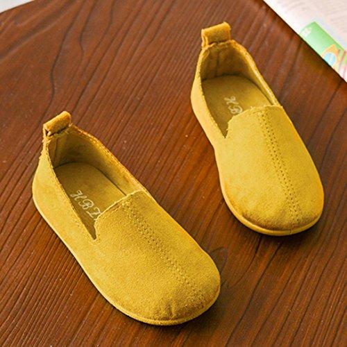 Prevently Babygelb-Rote Beige PU-Art und Weise Bequeme Kindermädchen-Normallack Einzelne Prinzessinschuhe Gelb