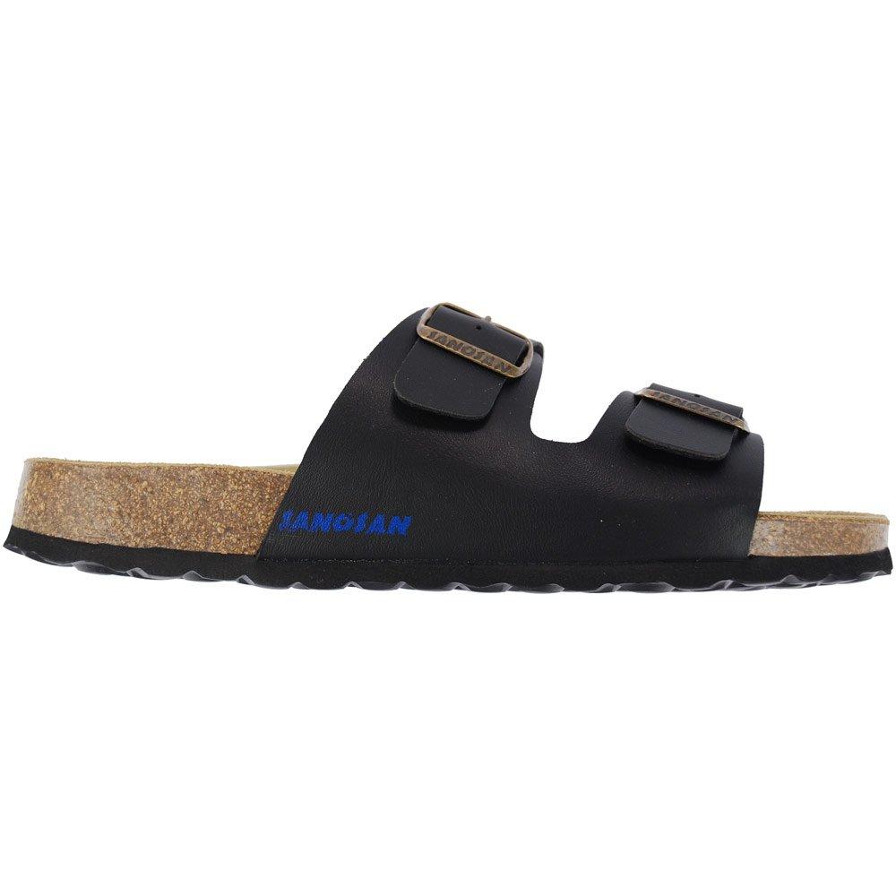 5136c9d9c Mens Black Sanosan Aston Designer Double Buckle Sandals Comfort Flip Flops  Pool Mules  Amazon.co.uk  Shoes   Bags
