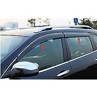 Nicebee 4pcs Door Window Visor Sun Rain Shield Guard ABS for jeep Grand Cherokee 2014-2015
