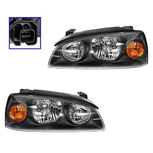 Headlights Headlamps Left & Right Pair Set for 04-06 Hyundai Elantra ()