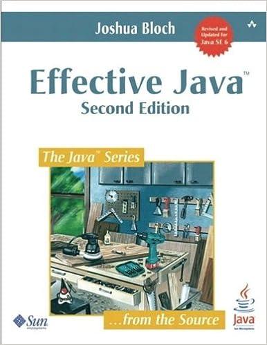 Effective Java (2nd Edition): A Programming Language Guide por Joshua Bloch