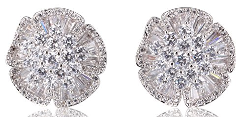 MISASHA Womens Trendy and Fashion Encrusted Rhinestone Earrings