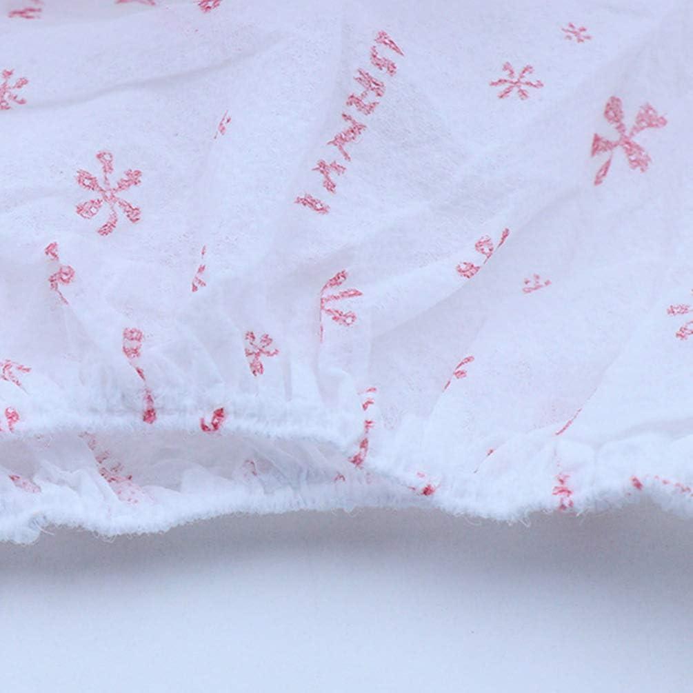 HEALLILY 5 Pcs Culotte Imprim/ée Jetable Non Tiss/é Papier Coton Respirant Maternit/é Bref Sous-V/êtements Slip pour Voyage En Plein Air H/ôpital Taille XXL Rose