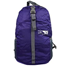 Ultra Lightweight Packable Travel Foldable Daypack Durable Travel Backpack (Purple)