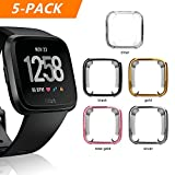 Fitbit Versa Case, Belyoung Soft TPU Slim Fit Full Cover Screen Protector for Fitbit Versa Smartwatch (5pcs)