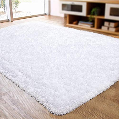 ACTCUT Super Soft Indoor Modern Shag Area Silky Smooth Rugs Fluffy Anti-Skid Shaggy Area Rug Dining Living Room Carpet Comfy Bedroom Floor 5.3' x 7.3'