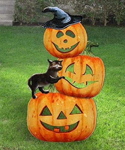 Halloween Outdoor Decorations, Yard decorations, lawn decor, Pumpkins Free-Standing Outdoor Decoration by Jamie Mills-Price #8158415F]()