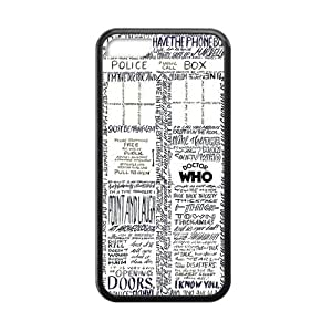Cool Artsy Doctor Who Apple Iphone 5C Case Cover TPU Laser Technology Tardis Police Call Box